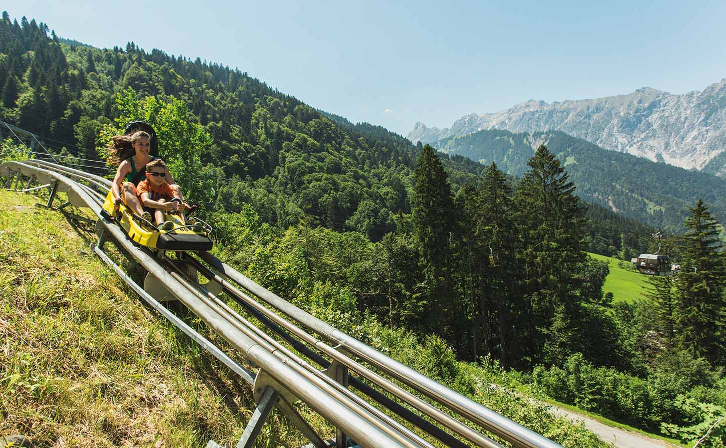 The Alpine-Coaster-Golm during summer. Photo: © Golm Silvretta Lünersee Tourismus GmbH, Christoph Schöch