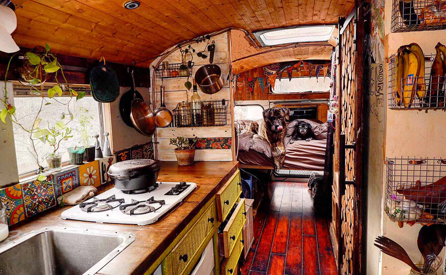 "A ""skoolie"", a school bus converted for living. Photo: Lauren Gardenbelle Fritts / flickr"