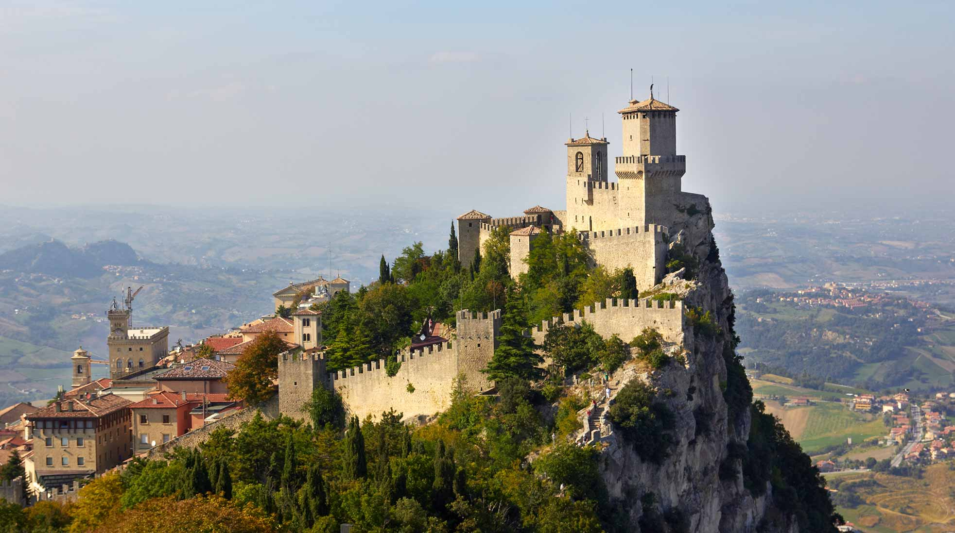 The fortress of Città di San Marino