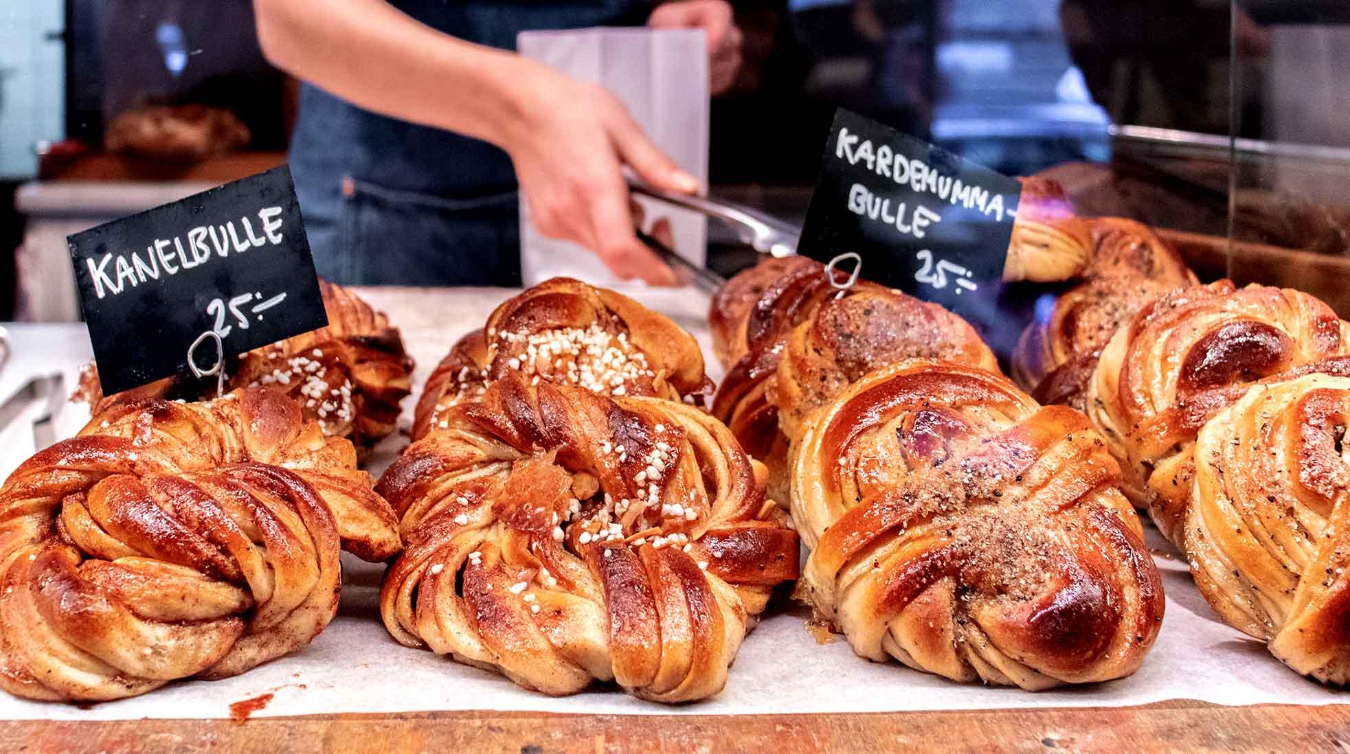 Cinnamon and cardamom rolls at a Swedish bakery. Photo: Jessica Guzik / Unsplash